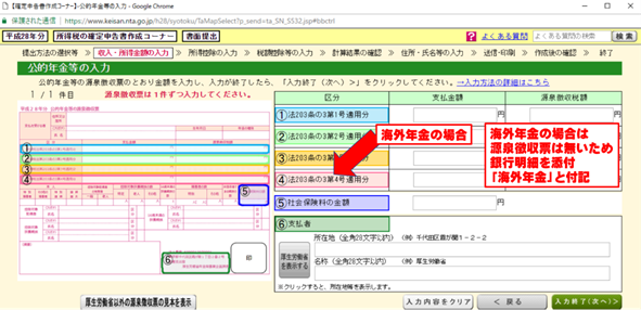 海外年金の確定申告の方法